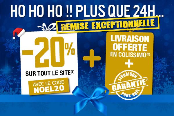 Profitez de -20% sur tout le site (1) avec le code NOEL20 + la livraison offerte et garantie (2) pour Noël !